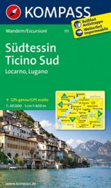 Wandelkaart Tessin Sud -Locarno-Lugano | Kompass 111 | ISBN 9783850269117