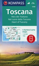 Wandelkaart  Toscane | Hart van Toscane |  Kompass 2440 | 1:50.000 | 9783990442647