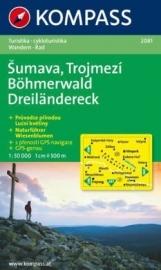 Wandelkaart Böhmerwald-Dreiländereck CZ/D | Kompass 2081 | 1:50.000 | ISBN 9783850261319