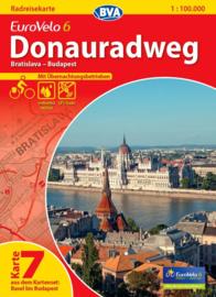 Fietskaart Eurovelo 6 kaart nr. 07. Bratislava - Boedapest | 1 : 100 000 | BVA  | ISBN  9783870736194