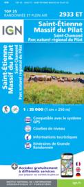 Wandelkaart Massif du Pilat - St-Etienne - St-Chamond | PNR du Pilat Ardéche | IGN 2933 ET - IGN 2933ET