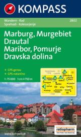 Wandelkaart-Fietskaart Marburg-Pomurje-Drautal | Kompass 2802 | 1:75.000 | ISBN 9783850261357