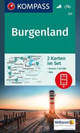 Wandelkaart Burgenland | Kompass 227 | 1:50.000 | ISBN 9783990442784