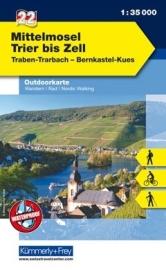 Wandelkaart Mittlere Mosel Trier bis Zell | Kümmerly & Frey 22 | 1:35.000 | ISBN 9783259025222