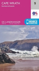 Wandelkaart Cape Wrath, Durness & Scourie | Ordnance Survey 9 | ISBN 9780319261071