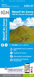 Wandelkaart Massif du Sancy, St.-Nectaire   PN Volcans D`Auvergne    IGN 2432 ET - IGN 2432ET   ISBN 9782758551492
