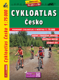 Fietsatlas - wegenatlas Tsjechië : Cesko Cykloatlas | Shocart | 1:75.000 | ISBN 9788072246267