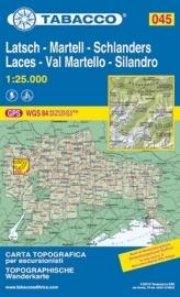 Wandelkaart Laces - Val Martello - Silandro | Tabacco 45 | 1:25.000 | ISBN 9788883150661