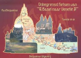 Fietsgids Fietsen van Amsterdam naar Venetië deel 2 Basel - Bern - Venetië | Benjaminse | ISBN 9789077899236