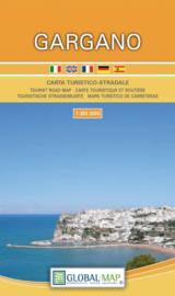 Wandelkaart - wegenkaart Gargano - Puglia | Global Map | 1:80.000 | ISBN 9788833030043