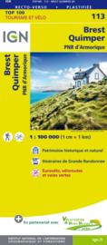 Wegenkaart - Fietskaart Brest - Quimper - Bretagne | IGN 113 | ISBN 9782758543626