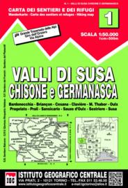 Wandelkaart Valli di Susa - Chisone e Germanasca | IGC nr. 1 | 1:50.000 | ISBN 9788896455555