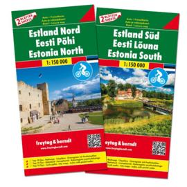 Wegenkaart - Fietskaart Estland Zuid en Noord | 1:150.000 | ISBN 9783707917727