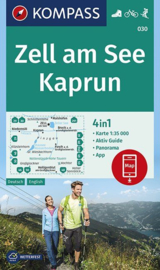 Wandelkaart Zell am See - Kaprun | Kompass 030 | 1:35.000 | ISBN 9783990445648