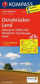 Fietskaart Osnabrücker Land | Kompass 3035 | 1:70.000 | ISBN 9783850265645