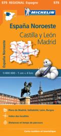 Wegenkaart Castilla y León - Madrid - Valladolid - Zamora | Michelin 575 | ISBN 9782067184275