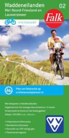Fietskaart Waddeneilanden met Noord Friesland  & Lauwersmeer 02 | Falk | 1:50.000 | ISBN 9789028725058