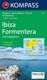 Wandelkaart Ibiza - Formentera | Kompass 239 | 1:50.000 | ISBN 9783854911739
