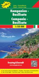 Wegenkaart - Fietskaart Campania - Basilicata   Freytag & Berndt   ISBN 9783707914924