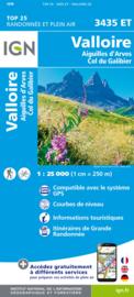 Wandelkaart Valloire, Aiguilles D Arves & Col du Galibier | NP Ecrins | IGN 3435 ET - IGN 3435ET