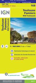 Wegenkaart - fietskaart Toulouse - Albi - Muret - Montauban - Pamiers | IGN 168 | ISBN 9782758547761