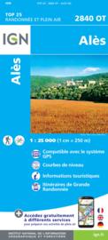Wandelkaart  Alès, La-Grand-Combe   Cevennen - Ardeche    IGN 2840OT - IGN 2840 OT
