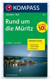 Wandelkaart  Rund um den Müritz | Kompass 855 | 1:50.000 | ISBN 9783850260374