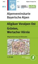Wandelkaart Allgäuer Voralpen Ost - Grünten, Wertacher Hörnle | DAV BY3 | ISBN 9783937530437