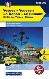 Wandelkaart Vogesen - Le Donon - Le Climont | Kümmerly & Frey 06 | 1:35.000 | ISBN 9783259007303
