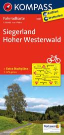 Fietskaart Siegerland - Hoher Westerwald  | Kompass 3057 | 1:70.000 | ISBN 9783850262941