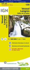 Wegenkaart - fietskaart Vesoul - Langres | IGN 130 | 1:100.000 | ISBN 9782758540823