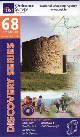 Wandelkaart Ordnance Survey / Discovery series   Carlow / Kilkenny / Wexford 68   ISBN 9781907122965