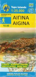 Wandelkaart Aigina | Anavasi 10.10 | 1:25.000 | ISBN 9789609412858