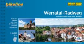 Fietsgids Werratal Radweg - 330 km.   Bikeline   ISBN 9783850009560