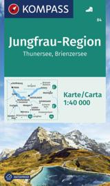Wandelkaart Jungfrau Region - Thuner See - Brienzer See | Kompass 84 | ISBN 9783990440612