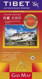 Wegenkaart Tibet - Bhutan - Nepal 05 | Gizimap | 1:2 miljoen | ISBN 9789632041391