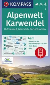 Wandelkaart Karwendel Alpenwelt | Kompass 6 | Mittenwald - Garmisch | 1:50.000 | ISBN 9783990445914