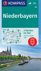 Wandelkaart Niederbayern 3-Set | Kompass 160 | 1:50.000 | ISBN 9783990445211