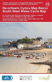 Fietskaart Wales zuidwest - South West Wales Cycle Map 013 | Sustrans | ISBN 9781900623407