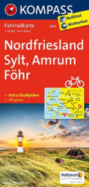 Fietskaart Nordfriesland - Sylt - Amrum - Föhr   Kompass 3001   1:70.000   ISBN 9783850265447