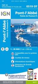 Wandelkaart 0519OT - 0519 OT Pont l Abbé, Pointe de Penmarch, Plogastel-St.-Germain, Plonéour-Lanvern | Bretagne