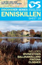 Wandelkaart Enniskillen | Discovery Northern Ireland 18 - Ordnance survey | 1:50.000 | ISBN 9781905306633