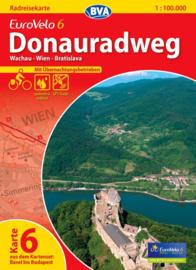 Fietskaart Eurovelo 6 kaart nr. 06. Wachau - Wenen - Bratislava | 1 : 100 000 | BVA  | ISBN  9783870736187