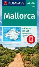 Wandelkaart Mallorca | Kompass 2230 - 4-delige set | 1:35.000 | ISBN 9783990444566