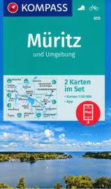 Wandelkaart  Rund um den Müritz | Kompass 855 | 1:50.000 | ISBN 9783990444221