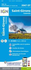 Wandelkaart St.-Girons, Castillons-en-Couserans | Pyreneeën |  IGN 2047OT - IGN 2047 OT