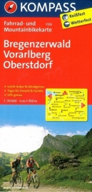 Fietskaart  Bregenzerwald - Vorarlberg - Oberstdorf | Kompass 3126 | 1:70.000 | ISBN 9783850263368