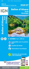 Wandelkaart Ballon d`Alsace, Giromagny, Ronchamp, Champagney | Vogezen | IGN 3520 ET - IGN 3520ET | ISBN 9782758550266