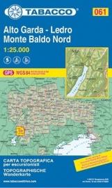 Wandelkaart Alto Garda - Ledro - Monte Baldo Nord | Tabacco 61 | 1:25.000 | ISBN 97888831510570