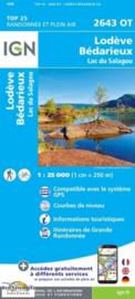 Wandelkaart Lodeve, Lac du Salagou, Bedarieux, Clermont | IGN 2643OT - IGN 2643 OT | ISBN 9782758548782